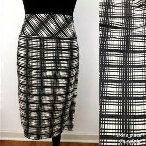 J. Crew Tan Striped Pencil Skirt Size 4 (NL)